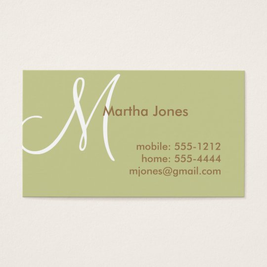 Earth Toned Business Card, Mummy Card (#BUS 006)