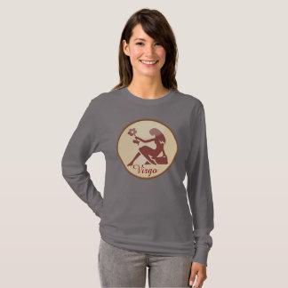 Earth Toned Horoscope Sign Virgo Long Sleeve T-Shirt