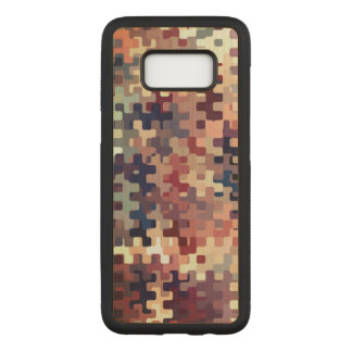 Earth Toned Multicolored Abstract Pattern Carved Samsung Galaxy S8 Case