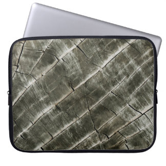 Earth Toned Wood Texture Laptop Sleeve
