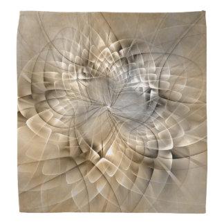 Earth Tones Abstract Modern Fractal Art Texture Bandana