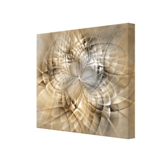 Earth Tones Abstract Modern Fractal Art Texture Canvas Print