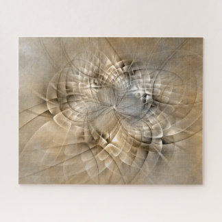 Earth Tones Abstract Modern Fractal Art Texture Jigsaw Puzzle