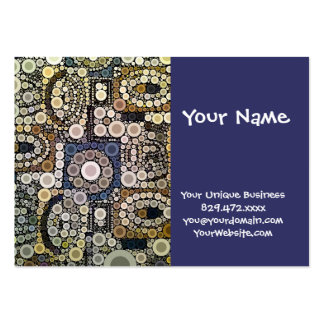 Earth Tones Concentric Circles Mosaic Pattern Business Cards