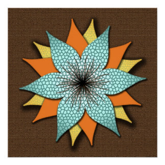 Earth Tones Floral Canvas Poster
