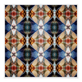 Earth Tones Geometric Abstract Pattern Poster