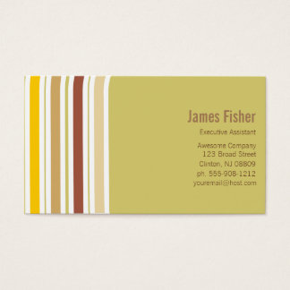 Earth Tones Geometric Stripe Business Card
