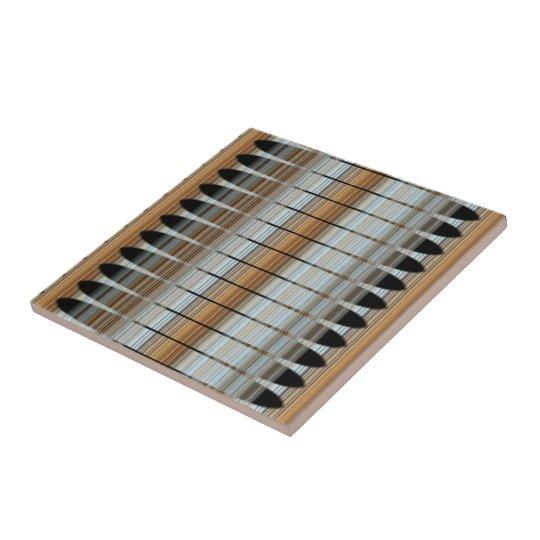 Earth Tones Peruvian Array Ceramic Tile