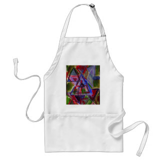 Earth tones primitive, bohemian art with triangles adult apron