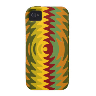 Earth Tones Saw Blade Teeth Ripple Waves Vibe iPhone 4 Covers