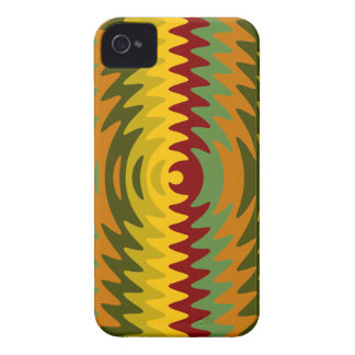 Earth Tones Saw Blade Teeth Ripple Waves iPhone 4 Cover