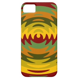 Earth Tones Saw Blade Teeth Ripple Waves iPhone 5 Cover