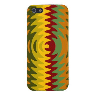 Earth Tones Saw Blade Teeth Ripple Waves Case For The iPhone 5