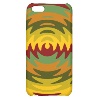 Earth Tones Saw Blade Teeth Ripple Waves Case For iPhone 5C