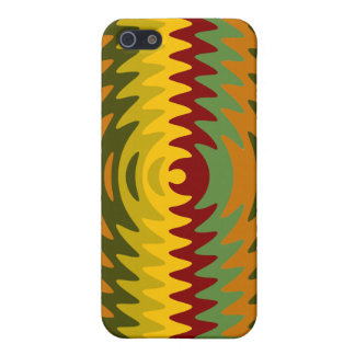 Earth Tones Saw Blade Teeth Ripple Waves Cases For iPhone 5