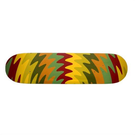 Earth Tones Saw Blade Teeth Ripple Waves Skateboard Decks