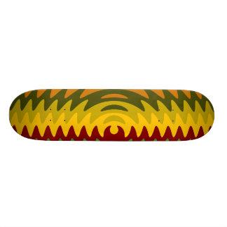 Earth Tones Saw Blade Teeth Ripple Waves Skate Deck