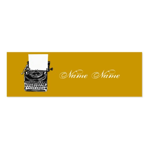 Earth Tones Vintage Typewriter Business Card Template