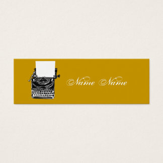 Earth Tones Vintage Typewriter Mini Business Card