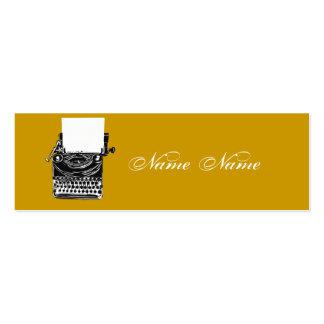 Earth Tones Vintage Typewriter Pack Of Skinny Business Cards