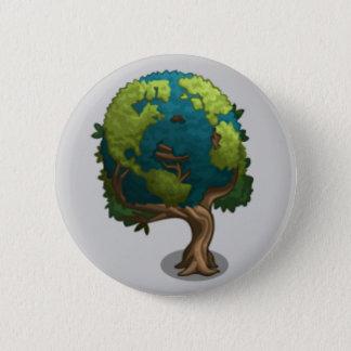 Earth Tree 6 Cm Round Badge