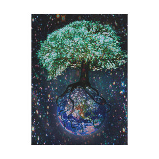 Earth Tree of Life Canvas Print