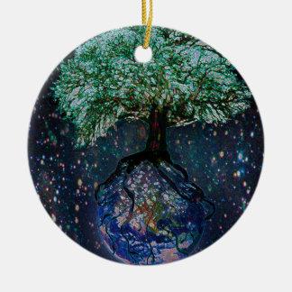 Earth Tree of Life Christmas Ornament