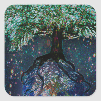 Earth Tree of Life Square Sticker