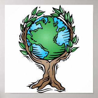 earth tree print