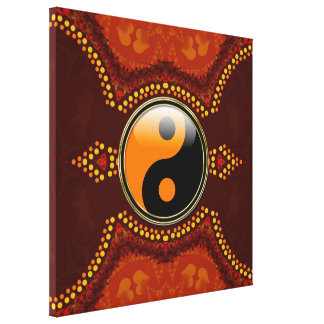 Earth Tribal New Age Yin Yang  Wrapped Canvas Canvas Print