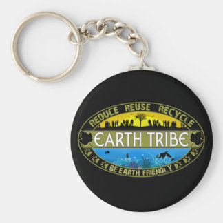 Earth Tribe Basic Round Button Key Ring