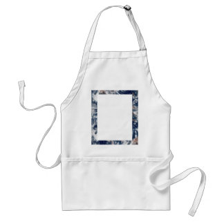Earth Trim Border and Background Adult Apron
