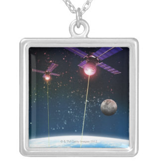 Earth Under Attack Silver Plated Necklace