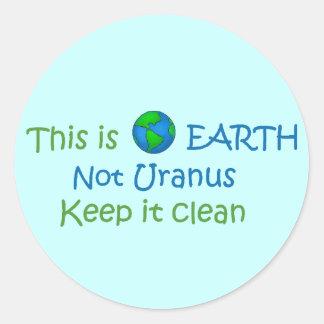 earth-uranus classic round sticker