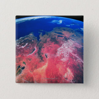 Earth Viewed from Space 2 15 Cm Square Badge