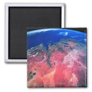 Earth Viewed from Space 2 Square Magnet