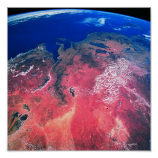 Earth Viewed from Space Poster