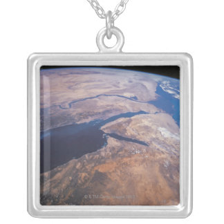 Earth Viewed from Space Silver Plated Necklace