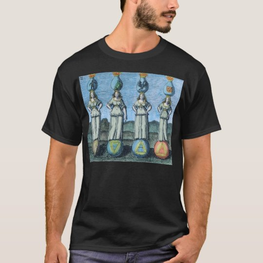 Earth, Water, Air, Fire - Alchemical Elements T-Shirt