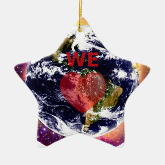 EARTH WE LOVE. CHRISTMAS ORNAMENT