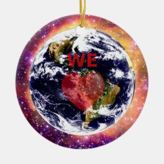 EARTH WE LOVE. ROUND CERAMIC DECORATION