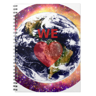 EARTH WE LOVE. SPIRAL NOTEBOOK