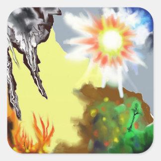 Earth Wind & Fire Square Sticker