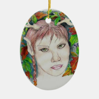 Earth Witch Ceramic Oval Decoration