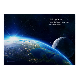 Earth with the Lights of USA Chiropractic Poster