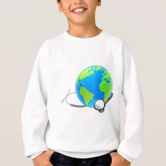 Earth World Globe Stethoscope Health Concept Sweatshirt