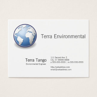 Earth World Globe Tango Business Card