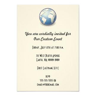 Earth World Globe Tango 13 Cm X 18 Cm Invitation Card