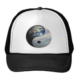 Earth Yin and Yang Symbol Mesh Hat