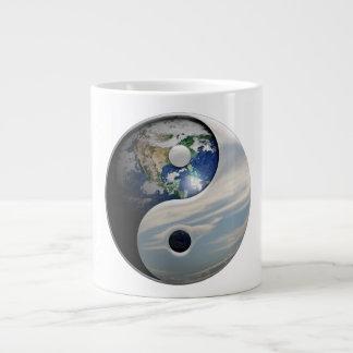 Earth Yin and Yang Symbol Large Coffee Mug